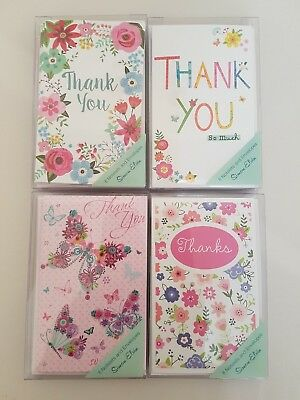 Pack Of 8 Thank You Notelets And Envelopes Greetings Cards By Simon Elvin 36144