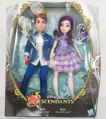 HASBRO Disney Descendants Two-Pack: Mal Isle of The Lost and Ben Auradon Prep