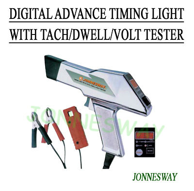 Jonnesway DIGITAL ADVANCE TIMING LIGHT WITH TACH/DWELL/VOLT TESTER
