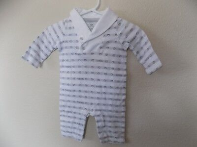 Koala Baby Infant Boy Long Sleeve One piece-Size 3 MO-100%Cotton-Made in India