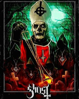 "Ghost Bc Masterpiece 16X20"" Papa Emeritus I Opus Eponymous 8Th Anniv Poster 2010"