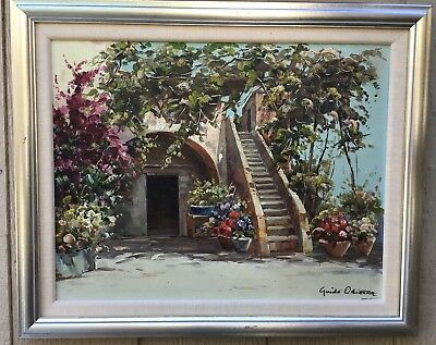 Guido Odierna Original Signed Oil Painting on Canvas Listed Artist VTG Rare
