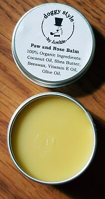 5 x 10ml Dog Paw and Nose Balm  Organic Natural Unscented Moisturizing Dog Balm