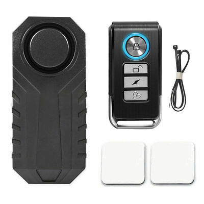113dB Wireless Anti-Theft Vibration Motorcycle Bicycle Alarm Waterproof Remote