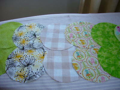 Fabric Jar Lid Covers X 12 For Your Home Made Preserves Pickles Jams Marmalade