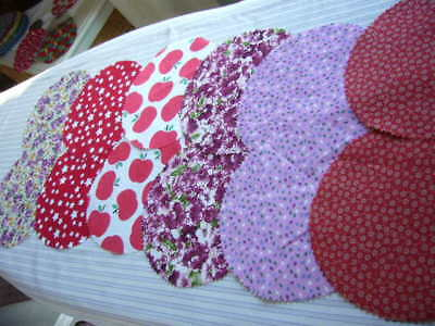 12 x FABRIC JAR LID COVERS FOR YOUR HOME MADE PRESERVES PICKLES JAMS MARMALADE