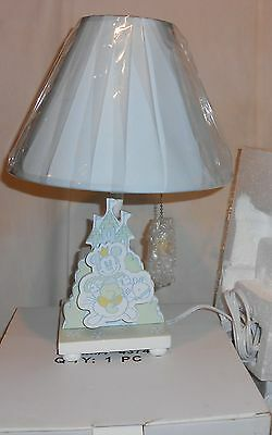 Disney Store Nib Baby Boy Lamp With Music Box Mickey Moves While Box Plays