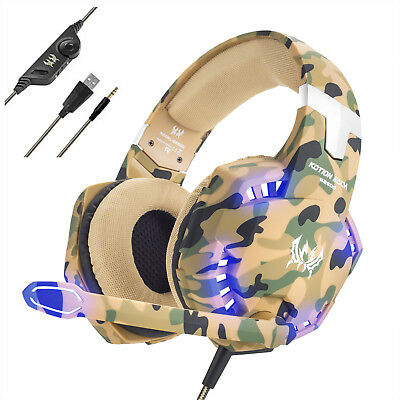 G2600 Camo Gaming Headset for PS4 New Xbox One 3.5mm Over Ear Mic Headphones