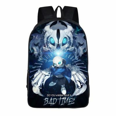 "42cm/17"" Game Undertale Sans Papyrus School Laptop Shoulders Backpack Bag Gift"