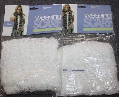 New in Packets Lincraft WEAVING SCARFS x 2 - Make your own scarf weaving wool