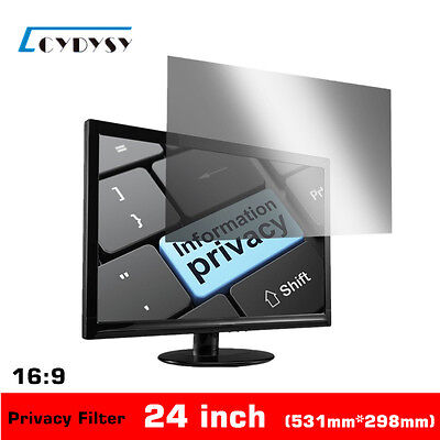 24 inch Privacy Filter Screen Protective film for 16:9 Widescreen Computer