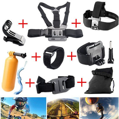 For GoPro 5 4 3 SJ4000 SJ5000 Xiaomi Yi Cam Accessories Chest Head Strap Monopod