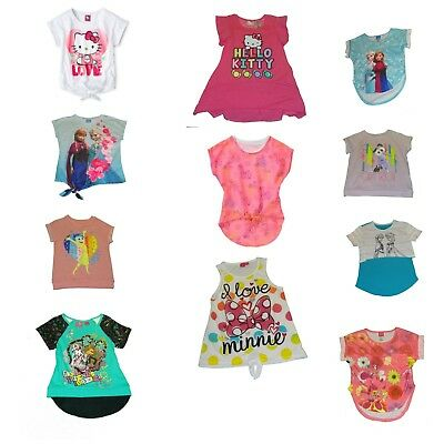 Girls' Shirts Minnie Mouse Monster High InsideOut Hello Kitty My Little Pony NWT