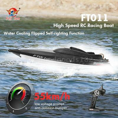 Original Feilun FT011 2.4G 55km/H High Speed RC Boat Flipped Self-Righting O0Y5