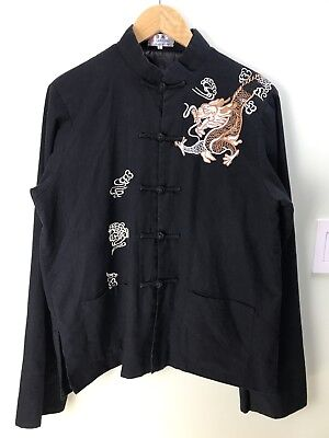 Laogudai Traditional Chinese Embroider Dragon Men Size Large Kung Fu Jacket J604