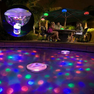 1/2/3PC Floating Underwater LED Disco Light Glow Show Swimming Pool Tub Spa Lamp