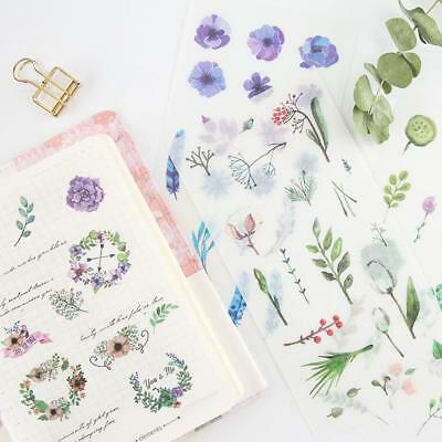 Hot Nature Flower Plant Stickers Scrapbooking Diary Stationery 6 pcs/pack