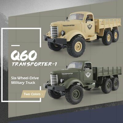 JJRC Q60 2.4G RC 1:16 Machine 6WD Tracked Off-Road Military RC Truck Kids Toy MP