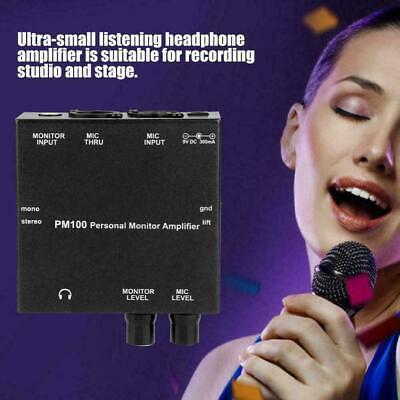 ANLEON PM100 Personal In-Ear Monitor Amplifier System 100-240V with MIC XLR THRU