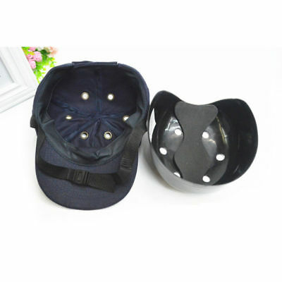 Outdoor Safety 6-hole Bump Cap Insert for Baseball Caps Black