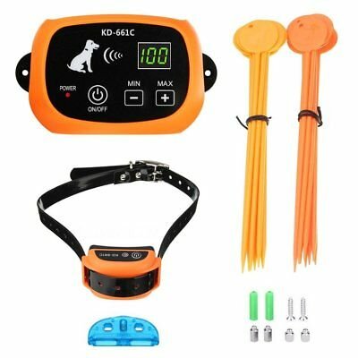 Wireless Rechargeable Dog Fence No-Wire Pet Containment System Waterproof TOP