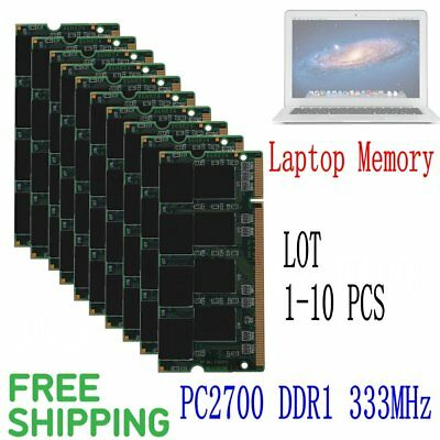 Laptop 10GB 8GB 4GB 2GB 1GB DDR PC2700 333Mhz Memory 200Pin Non-ECC DIMM RAM LOT
