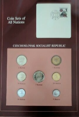Franklin Mint Coin Sets of All Nations  Czechoslovak Socialist Republic + Stamp