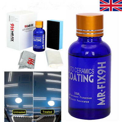9H MR FIX Super Hydrophobic Ceramic Glass Coating Care Wax Crystal Car Care UK