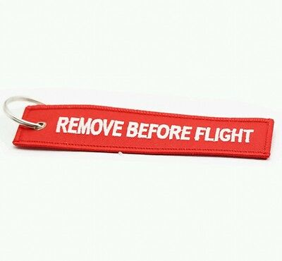 1pcs Remove Before Flight Embroidered Canvas Special Luggage Tag Label Key Ring