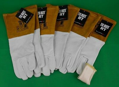 5 Pr TIGMATE RT Tig Gloves + TIG FINGER Goat Skin Gloves TIGMATE RT Tig Large