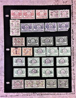 Large Lot 40 State of New York 1930's STOCK TRANSFER TAX STAMPS Used Hinged