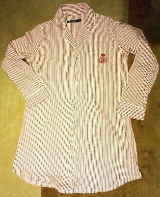 Women's Lauren Ralph Lauren Jersey Sleep Shirt, Size Small - Striped   $90.00