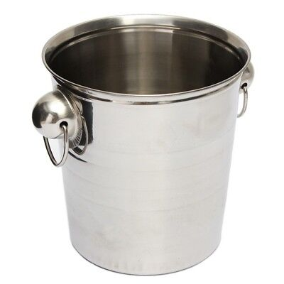Silver Stainless Steel Ice Punch Bucket Wine Beer Cooler Champagne Cooler P Z6Q6