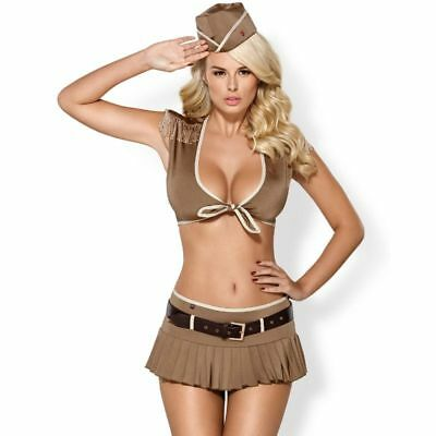 OBSESSIVE  COSTUMES OBSESSIVE SEXY SOLDIER UNIFORM 814-CST-4 SIZE S/M - Sexy clo