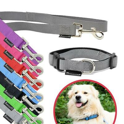 All Pet Solutions Puppy / Dog Strong Collar and 6ft Lead Set Blue Pink Red Black