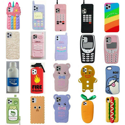 3D Cartoon Silicone Kids Cover Case For iPhone 11 11 Pro XS Max XR XS 8 7 6 Plus