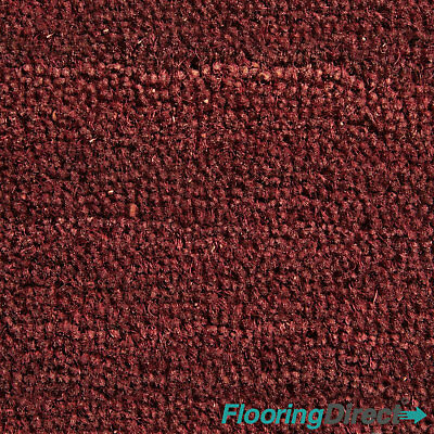 Red Coir Matting Natural Coconut Reception Entrance Door Mat 17mm Any Size
