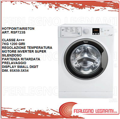 Lavatrice Classe A+++7 Kg 1200 Giri Hotpoint/Ariston  Rsf723S