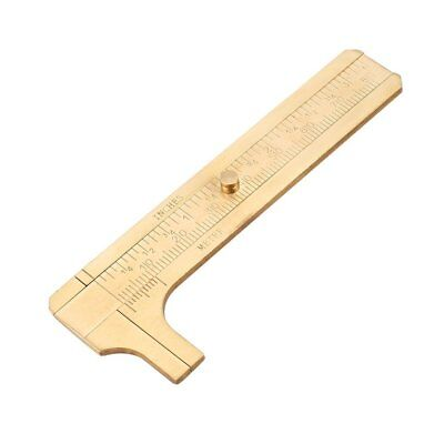 Brass Caliper 80MM Double Scale Slide Vernier Portable Jewelry Measuring Tool TP