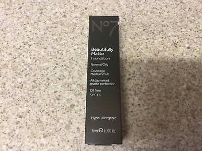 No7 Beautifully Matte Foundation Warm Ivory 30ml New Stock Sealed Boxed