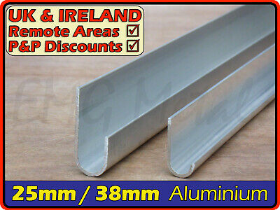Aluminium Gutter Section ║ aprx 40x15 mm / 25x12 mm ║ J profile,alloy,U channel
