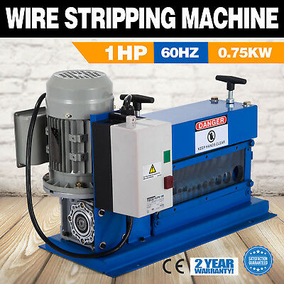 Portable Powered Electric Wire Stripping Machine 750W Φ1.02~ 25mm Industrial