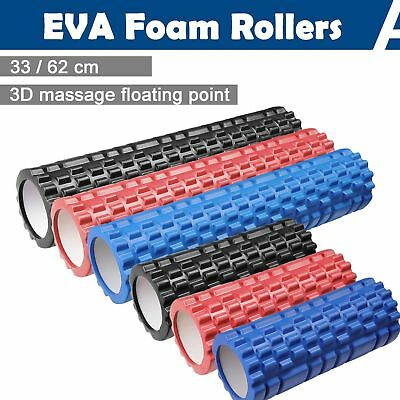 33CM Foam Roller Grid EVA Physio Pilates Yoga Gym Exercise Trigger Point Home GU