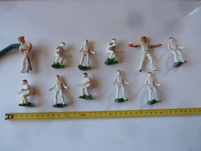 Selection of small plastic cricket players. From a damaged board game.