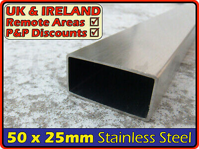 Stainless Steel Rectangular Tube ║ 50 x 25 mm ║ box section iron,profile,tubing