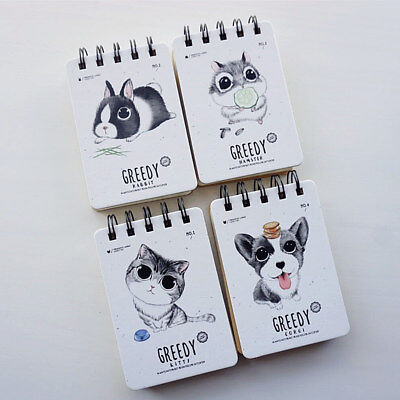 """""""Greedy Pets"""" 1pc Pocket Mini Diary Small Notebook Memo Journal Coil Spiral Cute"""