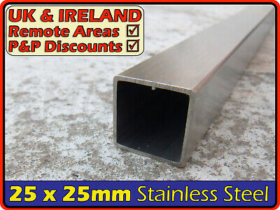 Stainless Steel Square Tube ║ 25 x 25 mm ║ box section iron,profile,tubing,pipe