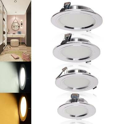 4/10X LED Recessed Ceiling Light Panel Sliver Round Downlights 5W 7W 9W 12W