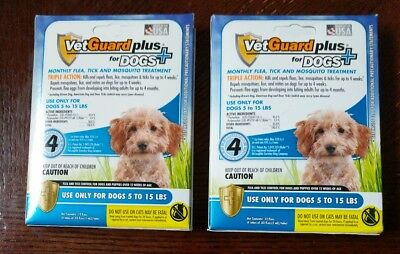 VetGuard Plus® Flea Tick & Mosquito Treatments for Small Dogs 5 -15 lbs 2 boxes
