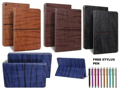 """Real Leather Smart Smooth Magnetic stand case Cover for New Apple iPad 2018 9.7"""""""